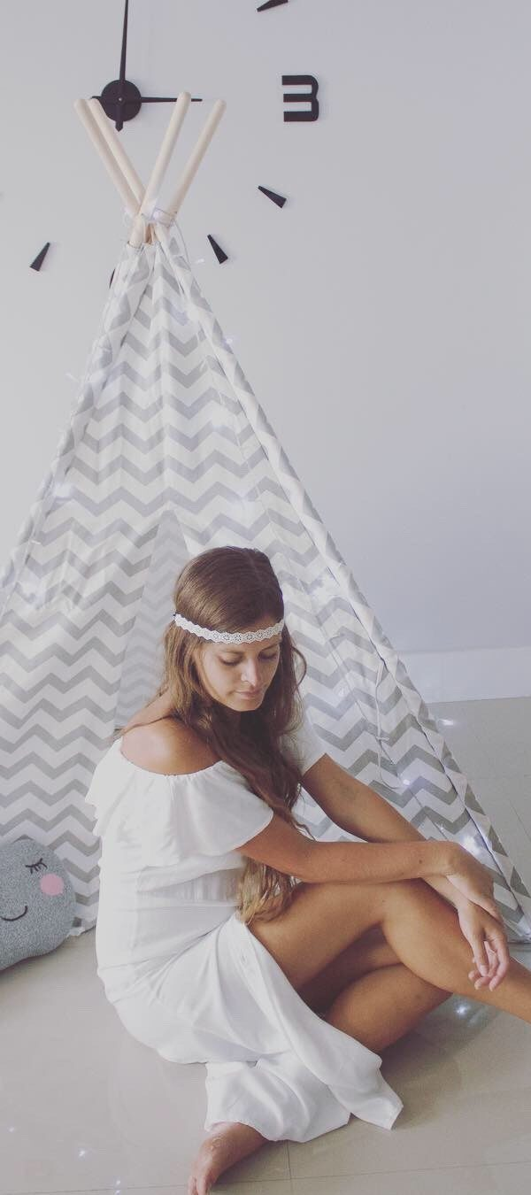 Tinylandus Teepee – White & Grey version: More than just a toy, it's a design piece in your home!